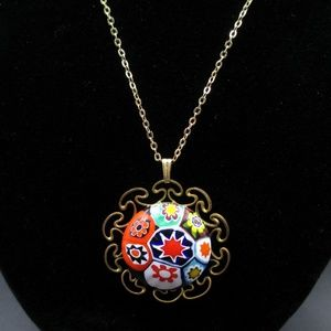 "Jewelry - 12k Gold Filled ""Ox"" Marked Ornate Sun Necklace"